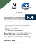Regulamentul de organizare și desfăsurare a Concursului de Film autohton