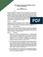 Reglamento proteccion ambiental