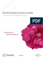 Board Evaluation Practices in India 26-05-2016