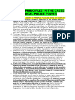 Cases- Police Power