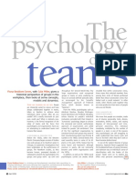 Psychology of Teams