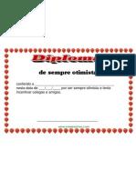 Diploma de sempre otimista GRATIS certificado modelo pronto