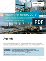 Siemens Answers for Industry 2016 Agenda