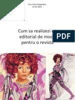 Curs Foto f Editorial Moda