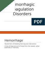 Hemorrhagic Coagulation Disorders