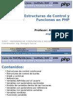 Estructuras de Control yFunciones en PHP