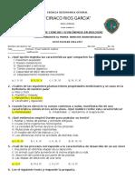Clave - Examen de Ciencias 1 Bloque 1 - Ce 2014-2015