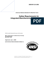 ANSI B11-20--Safety Requirements for Integrated Manufacturing Systems