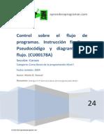 CU00178A Control Flujo Programa Instruccion Finalizar Pseudocodigo Diagramas