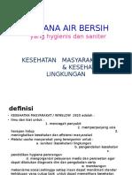 Sarana Air Bersih Kuliah Fk