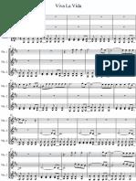 109963458 Viva La Vida Eric West Cover on Violin Transcription