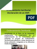 C 11 Ordenamiento Territorial Declaración de Un ANP