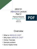 Abaqus Tutorial Part 2