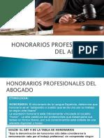 Honorarios Profesionales Del Abogado