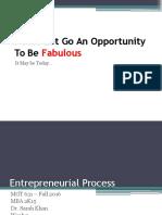 Entreprenrual Process