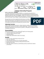 College Internship Application