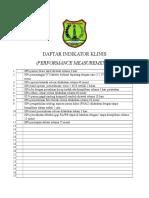 9. Format Daftar Indikator Klinis