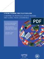 C. Deere-Birkbeck & C. Monagle - Streghtening Multilaterlism - A Mapping of Selected Proposals on WTO Reform & Improvement in Global Trade Governance