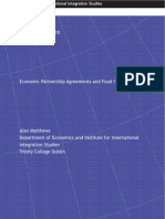 A. Matthews - Economic Partnership Agreements & Food Security [IIID Discussion Paper]