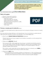Recomendaciones Para Las Traducciones - Proyecto GNU