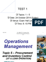 Topic 5 - Procurement and Inventory Control