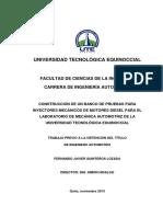 Banco de Pruebas de Inyectores Mecanicos