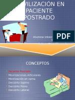 Técnicas de Movilización en Paciente Postrado