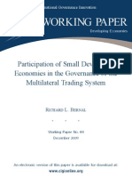 R. Bernal - Participation of SDE in the Governance of the MTS Published Dec 2009