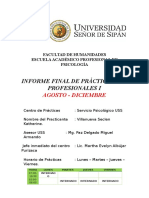 Informe Final Servicio Psicolgico