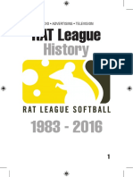 The History of the Phoenix RAT Softball League