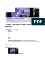 20130212_North Korea Conducts Third Controversial Nuke Test