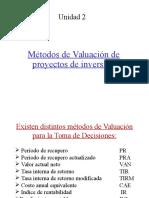 Metodos de evaluacion de Proyectos1