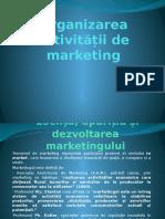 Organizarea Activității de Marketing