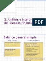 2. Análisis e Interpretación de Estados Financieros