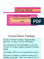 Home Teaching Training
