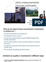 Air Pollution Measurements and Emission Estimates