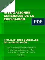 Instalaciones Generales de La Edificación