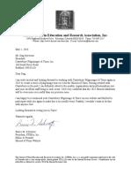 Letter From Mr. Schwortz_STERA