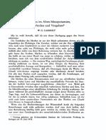 Lambert Mythos Im Alten Mesopotamien