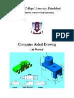 AutoCAD Lab Manual (GCUF)