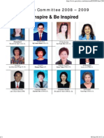 Tawau Toastmasters Club Executive Committee 2008/2009