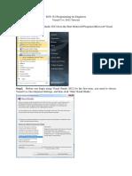 Lab 0 VC++ 2012 tutorial