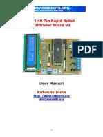 AVR 40 Pin Rapid Robot Controller Board v2.1