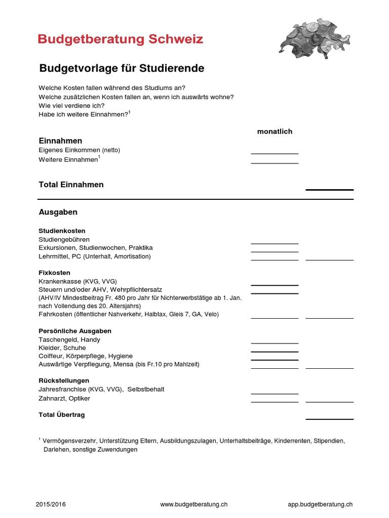 Beste Monatliche Budgetvorlagen Bilder - Entry Level Resume Vorlagen ...