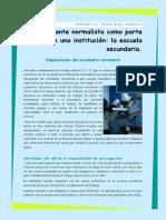 Articulo El Estudiante Normalista Como Parte de Una Institucion La Escuela Secundaria.