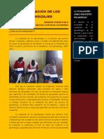 Articulo La Evaluacion de Los Aprendizajes