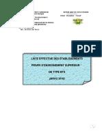 Liste Des Etablissements Bts Octobre 2013
