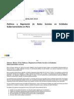 Informe IALaw 2016 - Políticas y Regulación de Redes Sociales en Entidades Gubernamentales en Peru - Final
