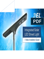 DEL Solar LED Street Light Presentation