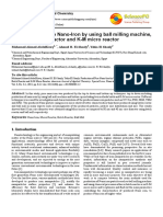 Production of Pure Nano-Iron by Using Ball Milling Machine